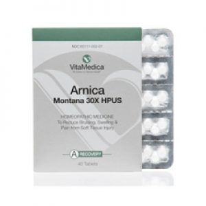Active Ingredient: (HPUS) Arnica Montana 30X. Inactive Ingredients: Lactose, Gum Acacia.